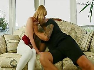 The Virgin Shows Her Hymen To The Guy. He Licks It And Fucks It Fantastic Blonde Teen Girl..