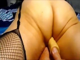 Wife Working Her 10 Inch Dildo To A Climax