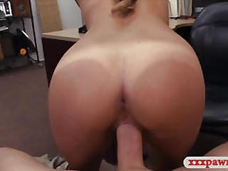 Sexy Waitress Banged By Pawnshops Owner To Earn Money