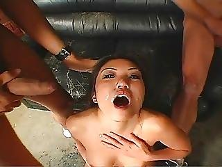 Asian Cock Hungry Chick Gangbanged