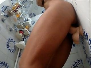 Wife Cums In Shower With Dildo