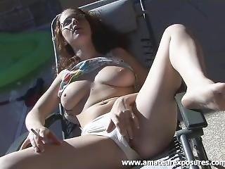 Busty Holly Webster Bathes And Smokes