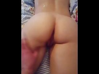 Pussy Covered Back With Cum