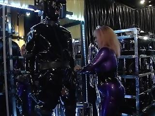 Rubber Chastity Orgasm