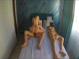 Teen Seduces And Fucks Her Roommate Next To His Girlfriend