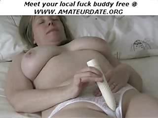 Bbw busty amateur masturbating with toy