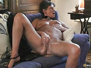Two Women Fucked In Various Sofas