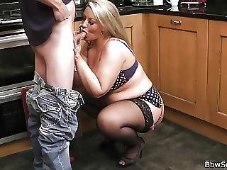 Hubby Caught Cheating In The Kitchen