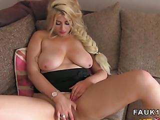 Natural Huge Tits Blonde Bangs In Casting