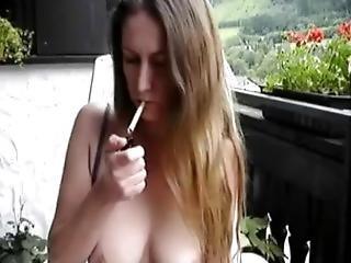 Sexy German Milf Smoking And Teasing