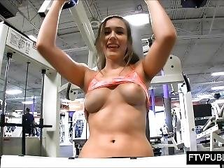 Risky Public Gym Masturbation