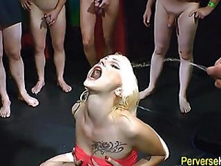Slut Fucked And Pissed On