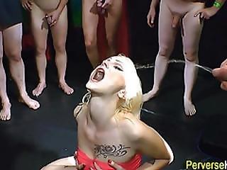 Slut Fucked And Pissed On