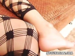 Amazing Asian Brunette With Pierced Belly Fucking In Pov