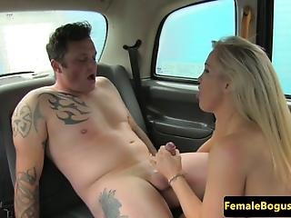Busty Fem Cabbie Face Fucked Before Spunked On Her Knockers