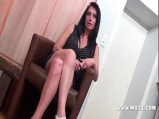 French Milf Bitch Cristale Make A Casting To Have Her 1st Porn Experience Sexy - 28 Min