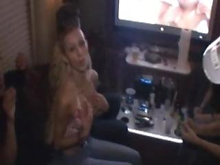 On Our Tour Bus With Real Rock Band And Girls Getting Crazy And Naked