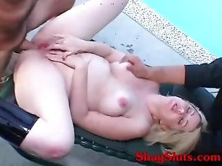 Husband Watches Wife Offering Ass & Pussy To Stud