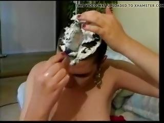 Nude Chick With Big Boobs Get Head Shaved