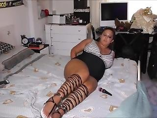 Self Bondage For Her Girlfriend, Going Wrong!