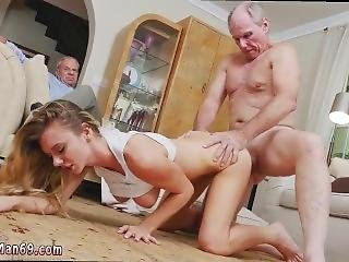 Horny Old Daddy Eating Pussy And Old Granny Anal Molly Earns Her Keep