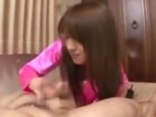 Shiori Kamisaki Cumming with Handjob