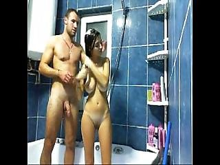Hottalicia Taking A Shower With Her Boyfriend