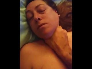 Whore Wife Is Choked And Fucked Hard Into Eye Rolling Orgasm