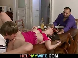 Delivery Boy Licks And Fucks His Young Wife For Money