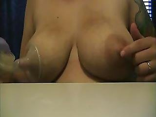 Milky Beth Lactating And Self Sucking