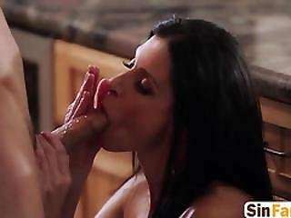 Beautiful Milf In Erotic Blowjob Cheating Session With Thick Dick Lover