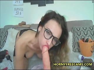 Hard Anal And Huge Messy Facial For Nerdy Milf