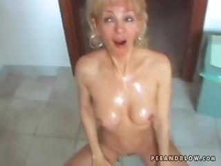 blonde, pipe, éjaculation, mature, milf, pisse, pisser, star du porno, brusque, sexe