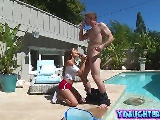 Kinky Teen Gets Drilled By Friend