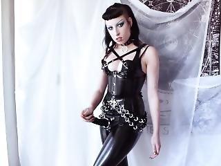 Goth With Strap-on Dildo Domination Fantasy - Milk Rebelle