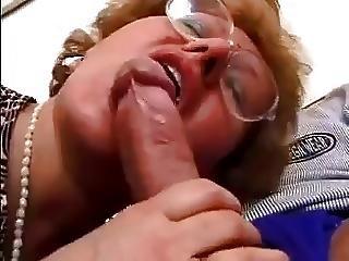 чертов, очки, зрелый, Пожилая женщина, сексуальный, молодой