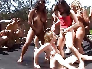 Insane Lesbian Squirt Party