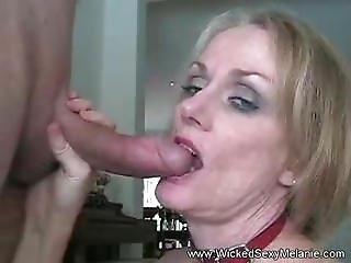 Renna From Dates25.com - Stepmom Blows Stepsons Cock