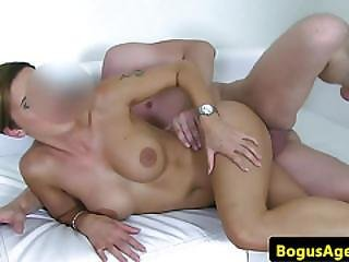 Bigtitted Casting Amateur Pounded On Couch