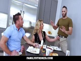 Familystrokes Horny Stepmom Fucks Stepson Dad For Thanksgiving