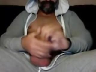 Amateur, Ours, Grosse Bite, Sperme, Gay, Brusque, Solo, Webcam