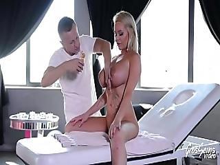 Cute Big Titted Rachele Richey Gets An Anal Massage