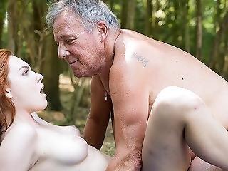 luder, gross titte, ladung, grossvater, heisser Jugendliche, rotschopf, verführt, sexy, sex, Jugendliche, jung
