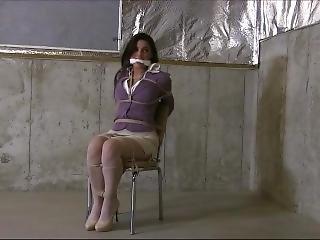 Secretary Bound To A Chair, Gagged