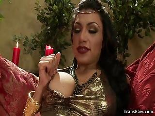 , Shemale, Big Cock Ts Empress Anal Fucks Slave