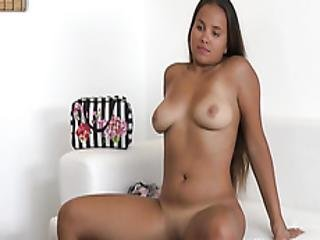 Busty Babe Olivia Nice Plays With Fake Agents Big Cock