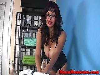 Busty Milf Titty Fucked After Cbt Fetish