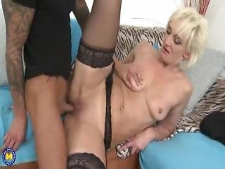 Horny Mature Lady Gets Fucked By A Young Dude
