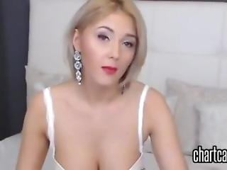 amatør, blond, frekk, solo, webcam