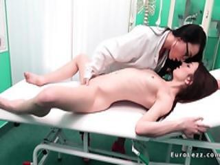 Lesbian Patient Rubbing Nurse